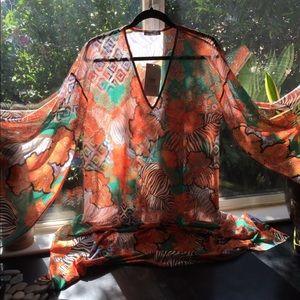 Zara collection Sheer coverup NWT small